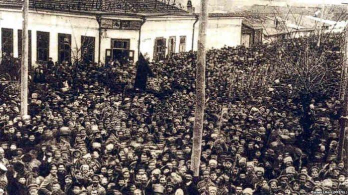 Manifestatie la Chisinau 10 martie 1917